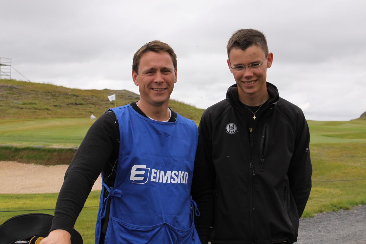 Feðgarnir Theodór Kristjánsson og Páll Theodórsson