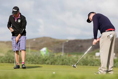 Íslandsmótið í Holukeppni Golf Borgarnes Hamarsvöllur