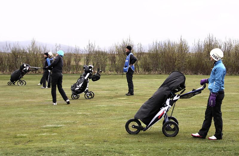 Anna Sólveig, Guðrún Brá og Tinna úr Golfklúbbnum Keili