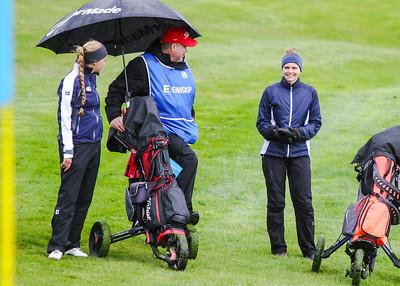 Saga Traustadóttir, Trausti Ágústsson, Heiða Guðnadóttir. Mynd/seth@golf.is