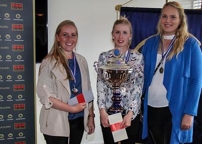 Berglind Björnsdóttir (GR), Karen Guðnadóttir (GS), Gunnhildur Kristjánsdóttir (GK).