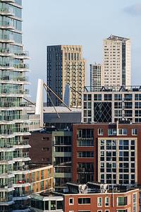 Woontoren Onyx in de skyline van Eindhoven