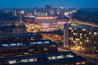 Philips Stadion tijdens avond
