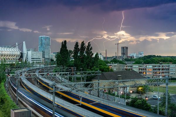 Bliksem boven Strijp-S, Eindhoven