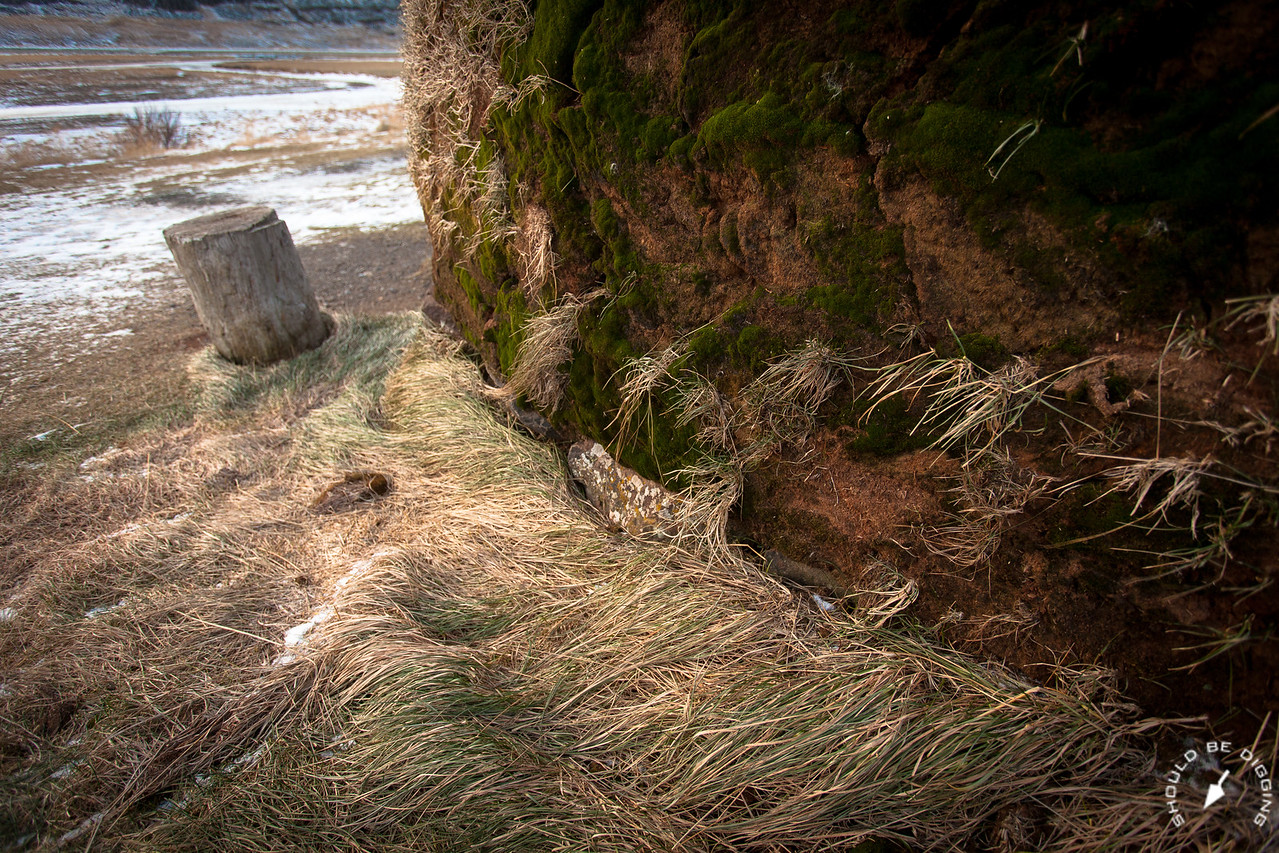 A Longhouse - Rock, Earth, and Grass