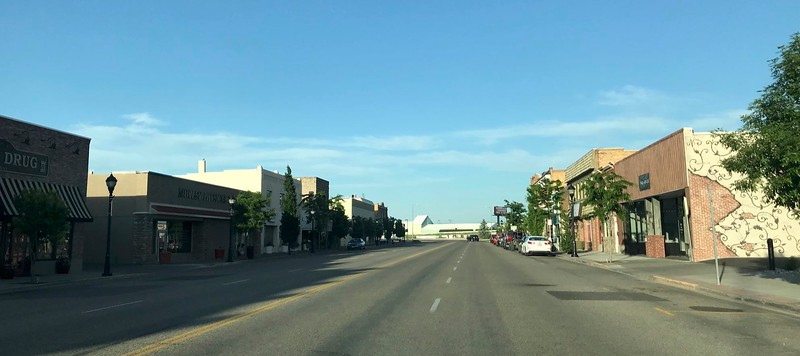 Western towns have very wide downtown streets. That comes from the cattle drives of 100 years ago.