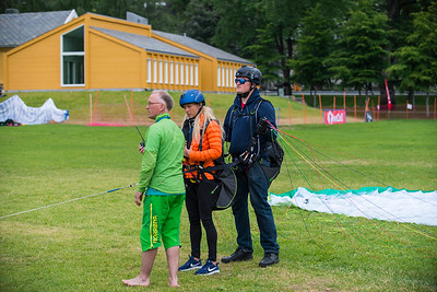 Tandem Paragliding, ready for take-off.