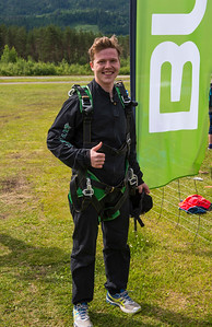 First time Skydiving, Happy Tandemjumper.