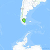 Our location on the map in El Calafate, Patagonia, Argentina