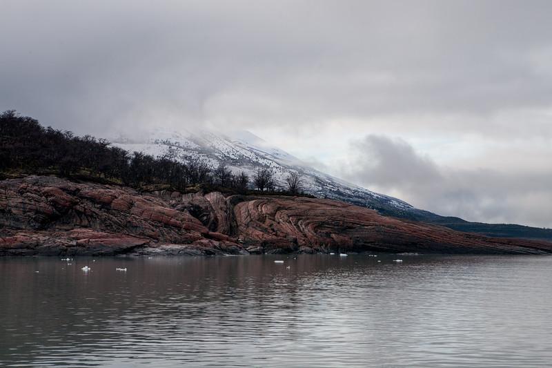 Landscape as we waited for the boat to Perito Moreno glacier, El Calafate, Argentina