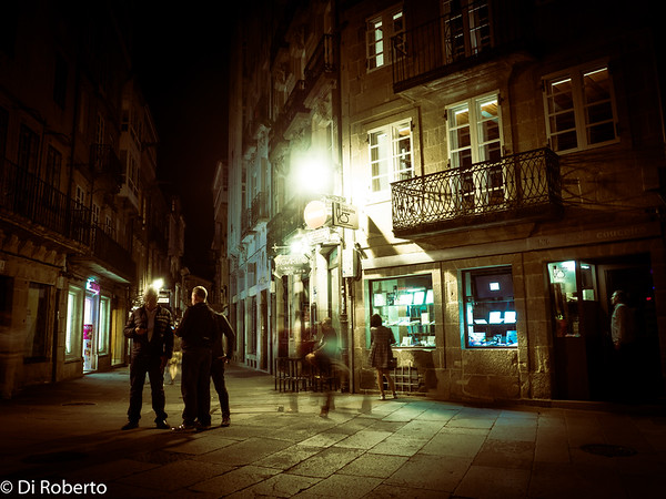 Pilgrims enjoying the Old Town