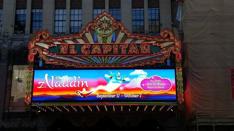 ALADDIN at El Capitan Theatre kicks off with original voice performers live on stage