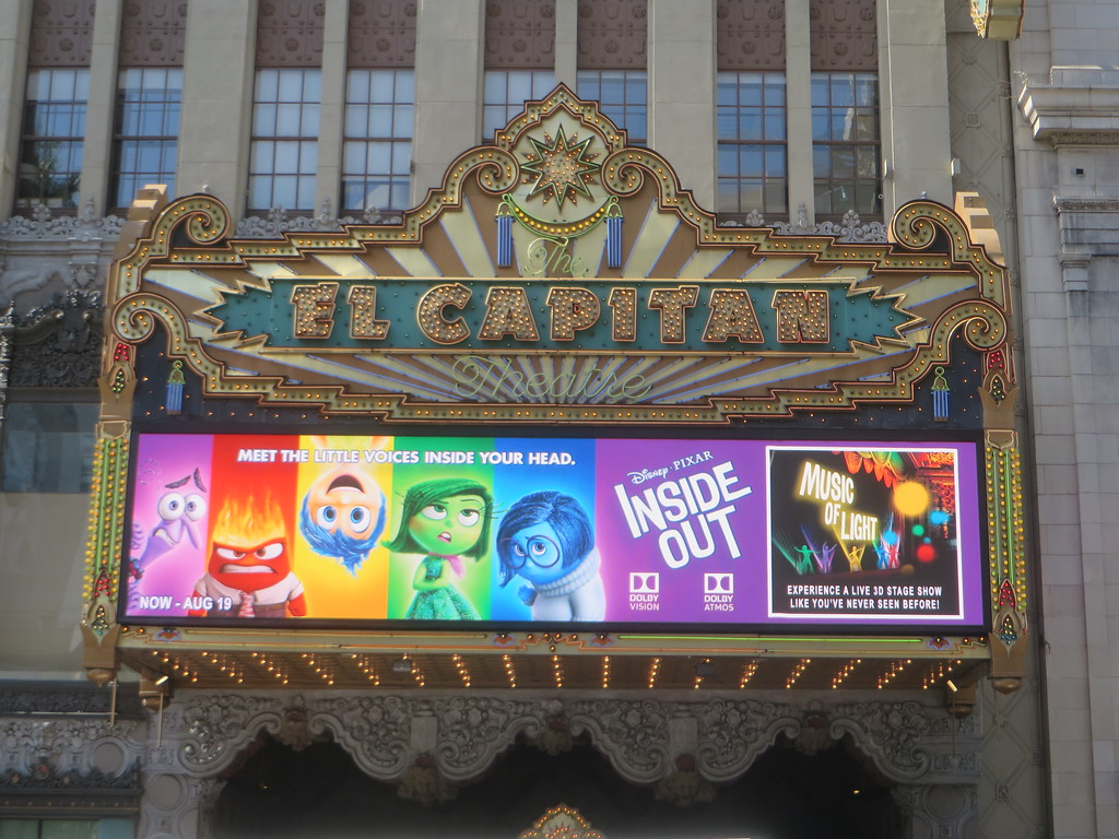 Go see INSIDE OUT at the El Capitan Theatre! You won't regret it!