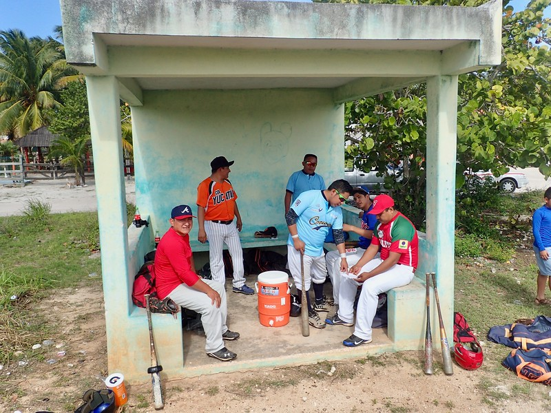 Visiting team dugout