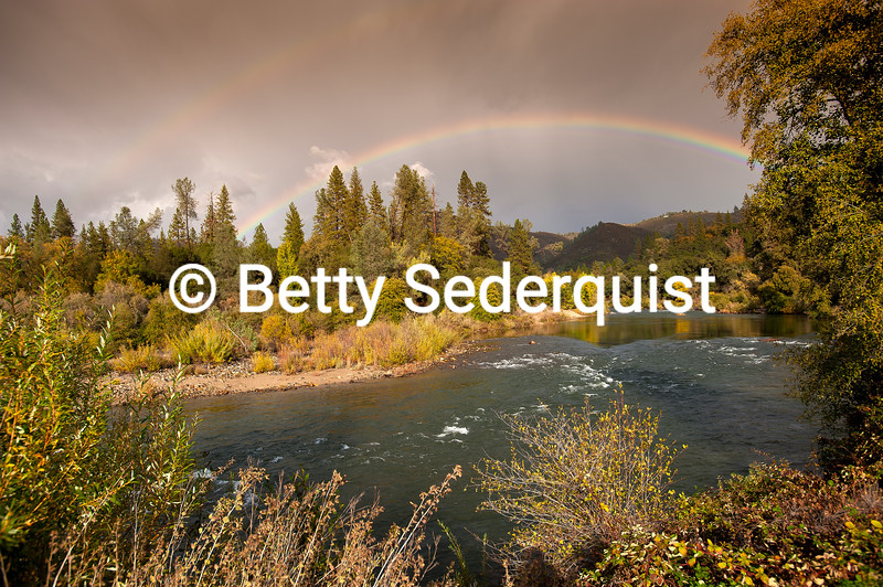 Rainbow over the South Fork American River, Lotus