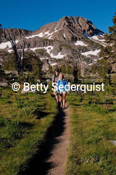 Hikers near Lake Winnemucca, Carson Pass