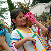 """Eight-year-old Galilea Rosario performs the """"Pineapple Dance"""" outside Brockport's Nativity of the Blessed Virgin Mary Church following the annual Bienvenida Mass June 27."""