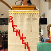 Brockport mayor Connie Castañeda reads the Proclamation of the Bienvenida at the conclusion the annual Mass June 27.