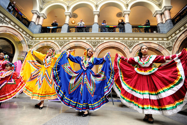 City of Rochester hosts kick-off event for Hispanic Heritage Month at City Hall. This years theme is 'Latino Pride: Creating a brighter future.'