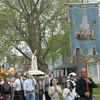 The Portuguese community of St. Monica's Our Lady of Fatima spiritual procession through the streets of the 19th ward.