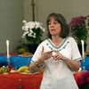 Karen Canning, Traditional Arts Program Director at Livingston Arts, explains traditions associated with Day of the Dead Nov. 2 at St. Thomas Aquinas in Leicester. Day of the Dead, which is celebrated from Oct. 31 to Nov. 2, is a Mexican holiday to honor departed loved ones.