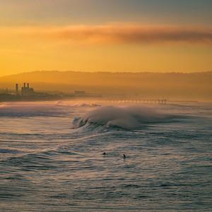 Sunrise surfers, Manhattan Beach #2