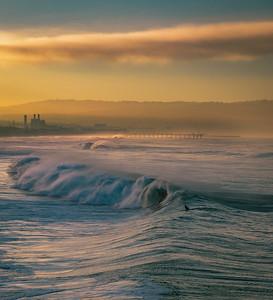 Sunrise surfing, Manhattan Beach #1