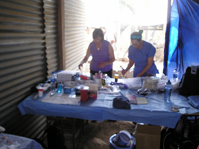 Mary, Jean set the pharmacy at Casa de Zacate