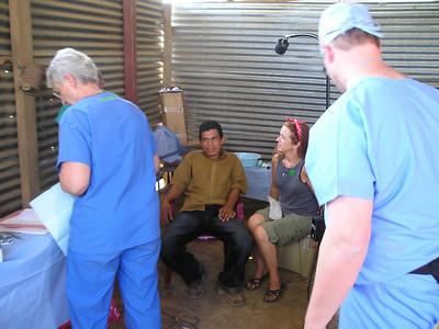 Dena, John (hidden) patient, Kathy, Brad