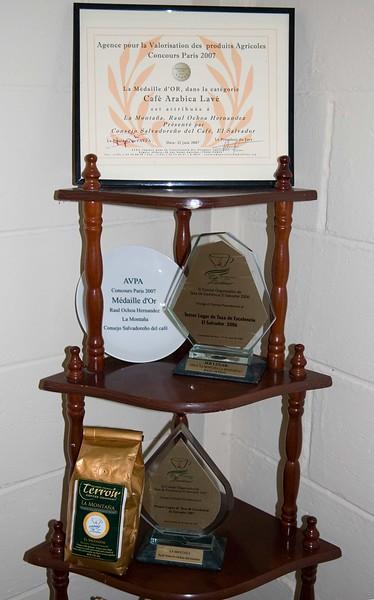 Mr. Ochoa is very proud of the awards he ha garnered.