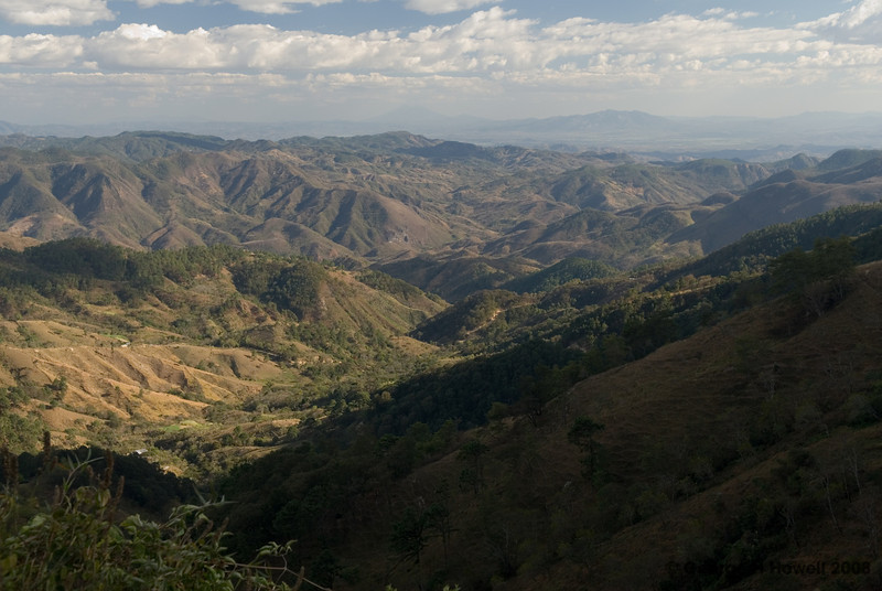 Surveying from near the top....  Far in the disatnce can be seen the mountain range bordering the Pacific.