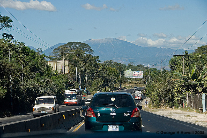 It takes less than an hour to reach Matalapa heading west out of San Salvador City.  We are facing the 7,000+ foot tall Santa Anna volcano which erupted in August 2005 temporarily crippling the farms around it with ash.  The next section covers my brief visit there....