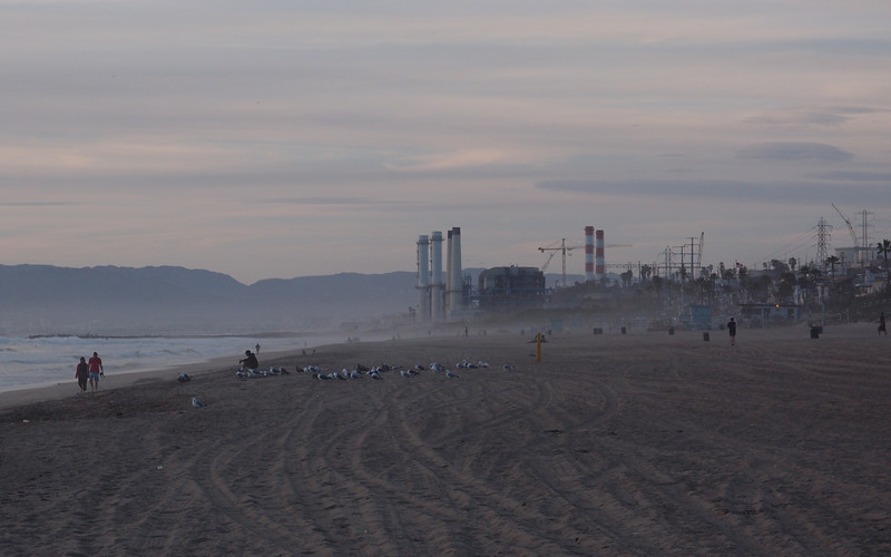 Evening at the beach, with Chevron