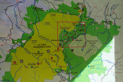 Map of El Yunque Points of Interest