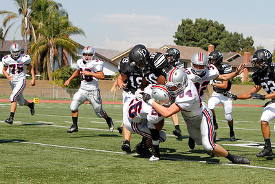 El Dorado vs Yorba Linda  JV at Glen Hastings Field in Placentia, California on September 5, 2013. Photo:Chris Anderson/114photography
