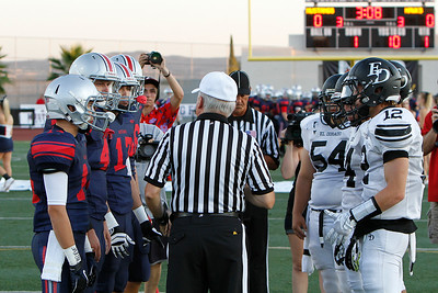 El Dorado vs Yorba Linda at Nathan Shapell Memorial Stadium in Yorba Linda, California on September 6, 2013. Photo:Chris Anderson/114photography