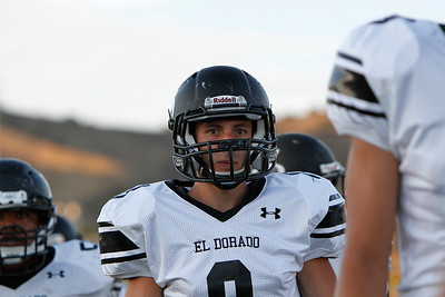 El Dorado High School Varsity Football Week 1: The Golden Hawks traveled across town to take on the Yorba Linda Mustangs at Shapell Stadium.  Yorba Linda defeated El Dorado 28-10