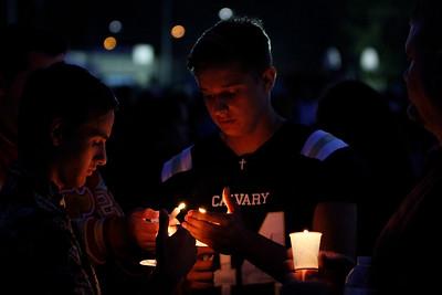 Mitchell Cook candle light vigil