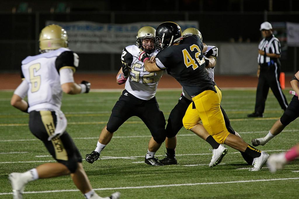 El Dorado vs Foothill at Tustin High School in Tustin, California on October 10, 2014. Photo:Chris Anderson/114photography