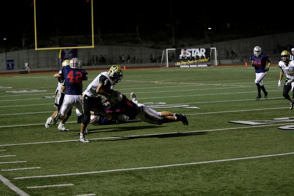 El Dorado vs Yorba Linda at Nathan Shapell Memorial Stadium in Yorba Linda, California on September 27, 2014. Photo:Chris Anderson/114photography