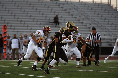 El Dorado High School defeats Estancia High School 43-13 at Bradford Stadium in Placentia, California on September 9, 2016. Photo: Chris Anderson/114photography