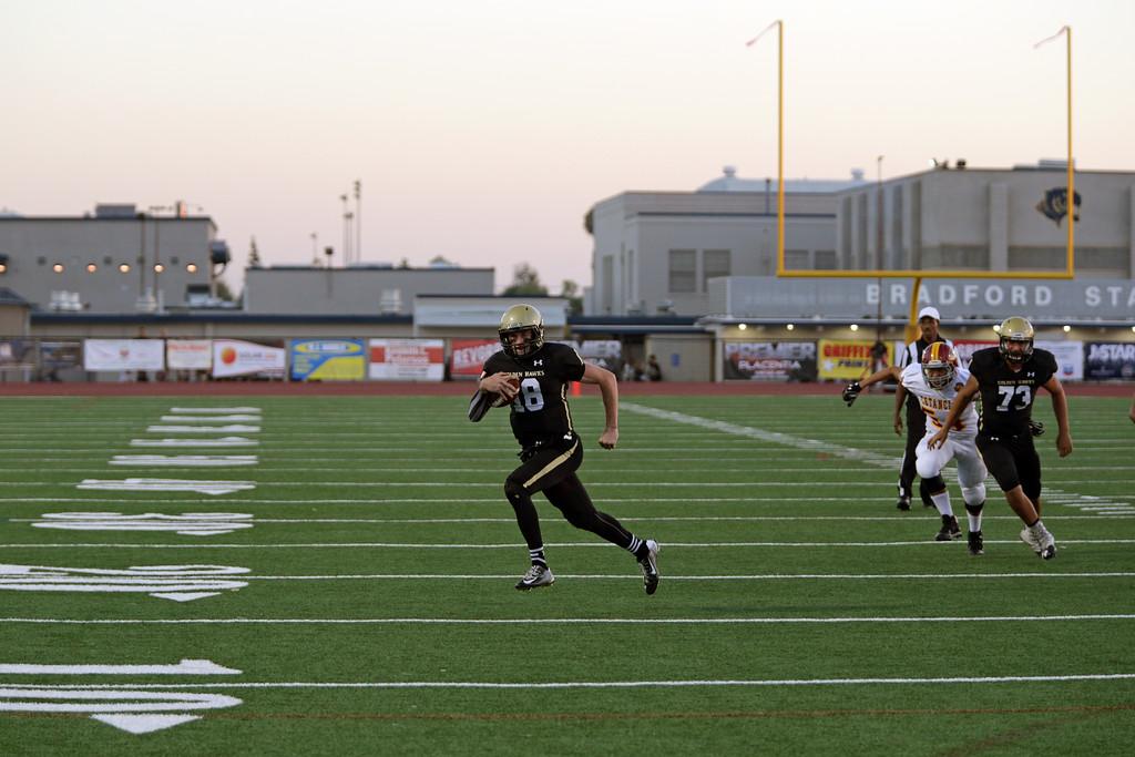 El Dorado High School defeats Estancia High School 43-13 at Bradford Stadium in Placentia, California on September 9, 2016. Photo: Chris Anderson/114photography