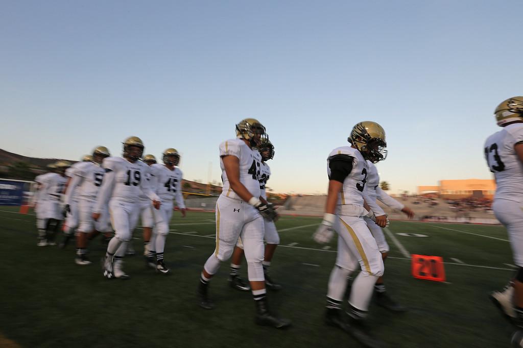 El Dorado vs Yorba Linda HS at Shapell Stadium/YL High School in Yorba Linda, California on September 23, 2016. Photo: Chris Anderson/114photography
