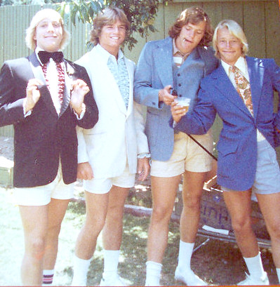 Remember guys wearing tennis shoes & shorts with their Tuxes (I think this was around '76)