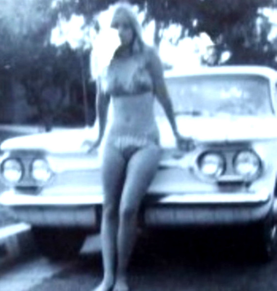 Vicki Skinner & Corvair - 1st car