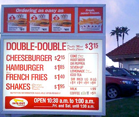 In & Out Burgers - YUMMM!!!