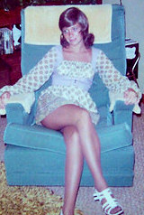 """I was actually 15 years old here & had one of my wigs on (even back then I liked variety in my looks) & I was visiting my grandparents near Chicago & I actually got served a """"Grasshopper"""" alcoholic drink at the Playboy Club in Lake Geneva, Wisconsin (& saw & got the autographs of the Jackson 5 [darn!!  Wish I still had that autograph!!  It would probably be worth a pretty penny!!!])."""