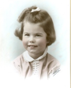 Elaine Adkins - Age 4 - taken on her birthday 3-27-1940