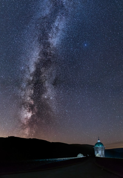 Milkyway Galaxy over Craig Goch Dam