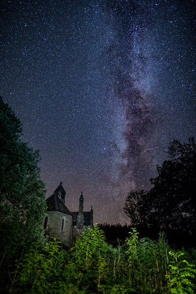 Milkyway Galaxy over Nantgwyllt Church